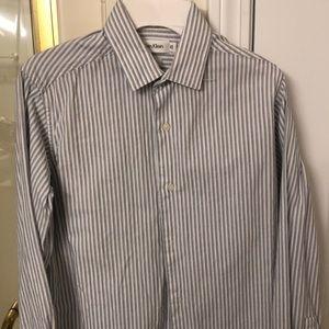 Calvin Klein Boys Size 12 Button Down Dress Shirt